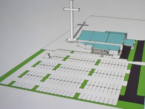 A rendering of the planned cross in Corpus Christi, Texas. It will be the largest in the United States.